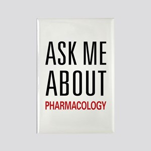 Ask Me About Pharmacology Rectangle Magnet