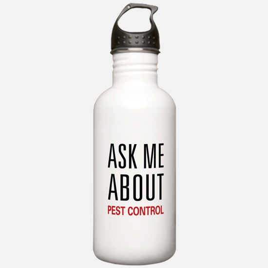 Ask Me About Pest Control Water Bottle