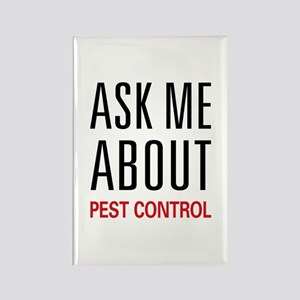 Ask Me About Pest Control Rectangle Magnet