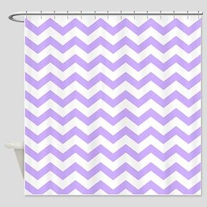 Lilac Chevron Shower Curtain