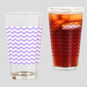 Lilac Chevron Drinking Glass