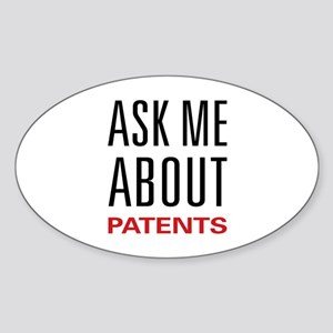Ask Me About Patents Oval Sticker