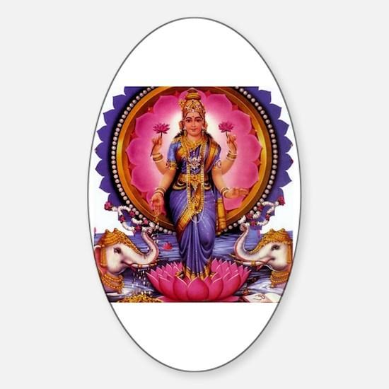 Unique Lakshmi Sticker (Oval)