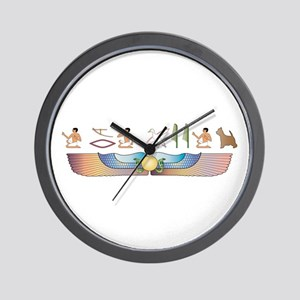 Westy Hieroglyphs Wall Clock