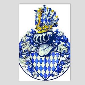 Medieval Bavarian Coat of Postcards (Package of 8)