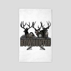 Bowhunter bucks 3'x5' Area Rug