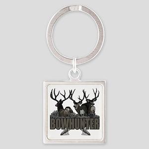 Bowhunter bucks Square Keychain