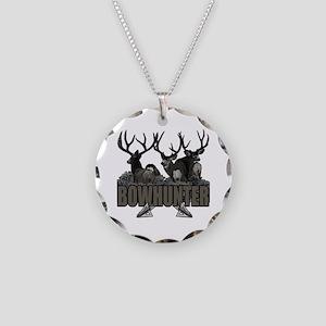 Bowhunter bucks Necklace Circle Charm