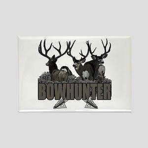 Bowhunter bucks Rectangle Magnet
