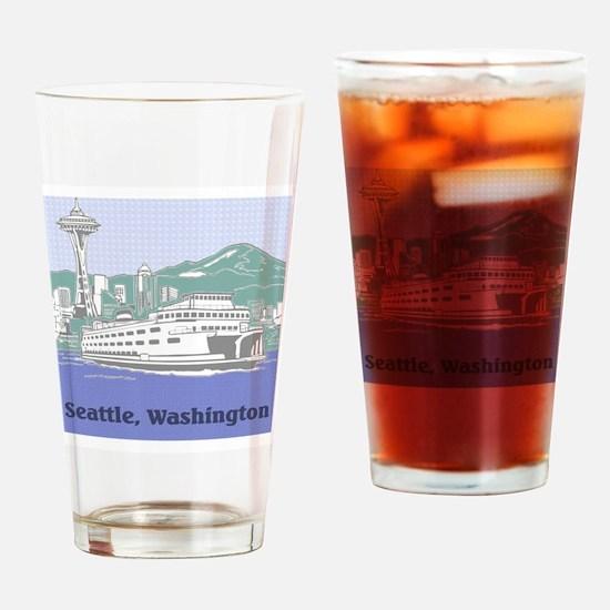 Seattle Washington Drinking Glass
