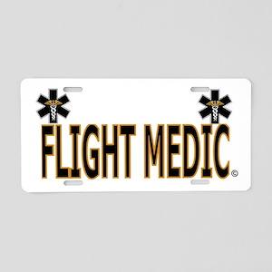 Flight Medic Aluminum License Plate