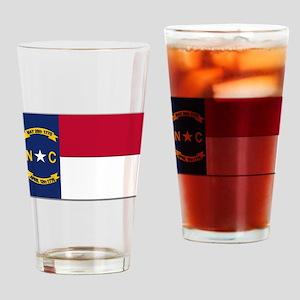 North Carolina Flag Drinking Glass