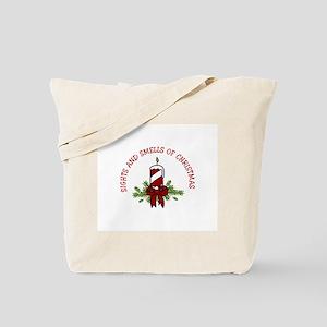 SIGHTS AND SMELLS OF CHRISTMAS Tote Bag
