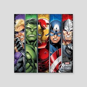 "Avengers Stripes Square Sticker 3"" x 3"""