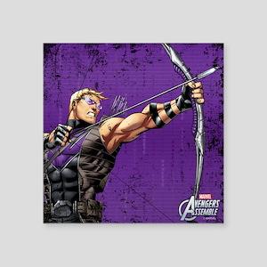 """Hawkeye Ready Square Sticker 3"""" x 3"""""""