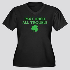 part irish all trouble Plus Size T-Shirt