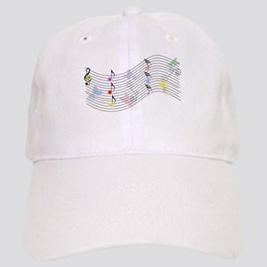 Music, flowers and butterflies Baseball Cap