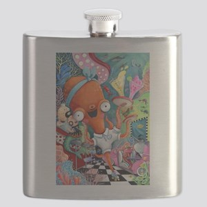 Underwater bar and Octopus Waitress Flask