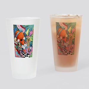 Underwater bar and Octopus Waitress Drinking Glass