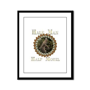 Half man half morel Framed Panel Print
