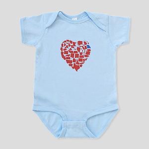Georgia Heart Infant Bodysuit
