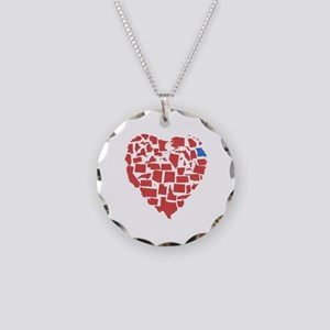 Georgia Heart Necklace Circle Charm