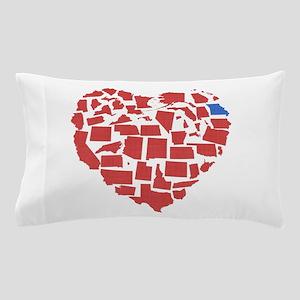 Georgia Heart Pillow Case
