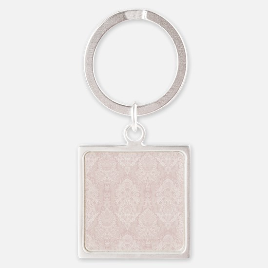 Baby Pink Floral Damask Ornamental Pattern Keychai