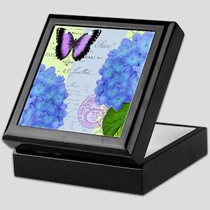 MODERN VINTAGE hydrangea Keepsake Box
