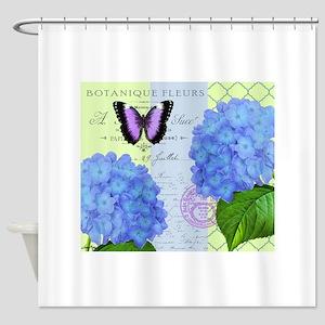 MODERN VINTAGE hydrangea Shower Curtain