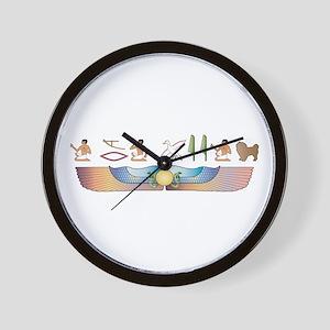 Tibbie Hieroglyphs Wall Clock