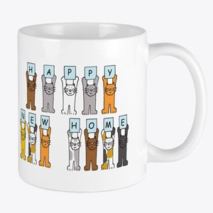 Happy New Home Cats Mugs