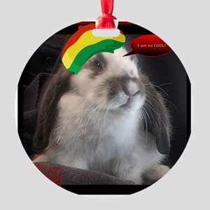 Reggae Rabbit image Round Ornament