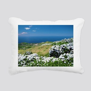 Hydrangeas everywhere Rectangular Canvas Pillow