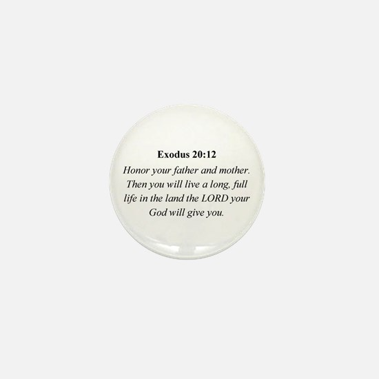 Mother's Day Bible Verse Exod Mini Button