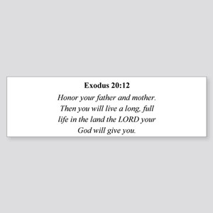 Mother's Day Bible Verse Exod Bumper Sticker