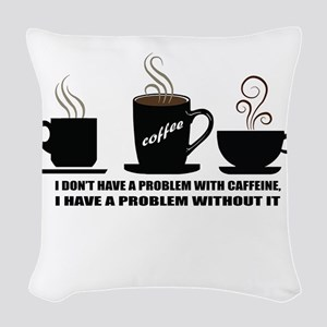modern vintage coffee trends Woven Throw Pillow