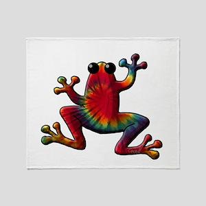 Tie Dye Frog Throw Blanket