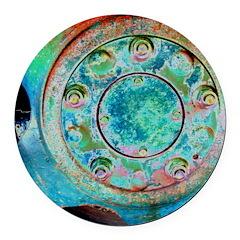 Solar Wheel Round Car Magnet