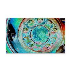 Solar Wheel Rectangle Car Magnet