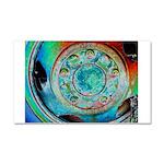 Solar Wheel Car Magnet 20 x 12