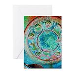 Solar Wheel Greeting Cards