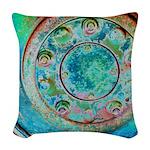 Solar Wheel Woven Throw Pillow