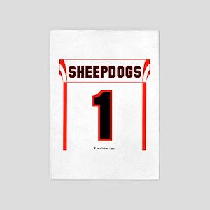 Sheepdog Jersey 5'x7'Area Rug