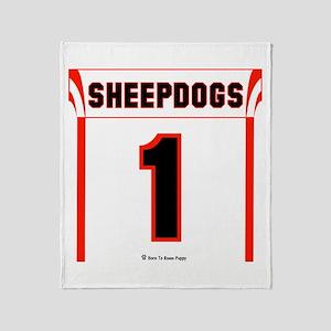 Sheepdog Jersey Throw Blanket