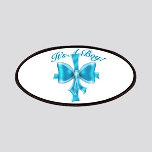 It's A Boy! Blue Silk Bow Patches
