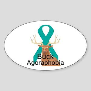 Agoraphobia Oval Sticker