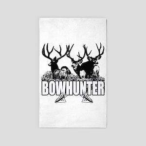 Bowhunter bucks b 3'x5' Area Rug