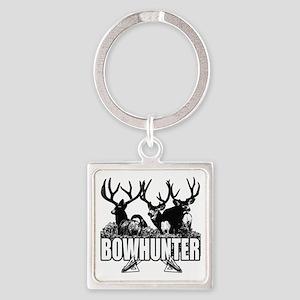 Bowhunter bucks b Square Keychain