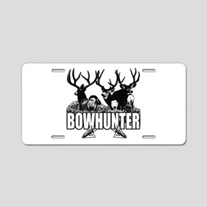 Bowhunter bucks b Aluminum License Plate